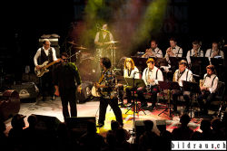 The Travellin' Brothers Big Band (ES) spielen anlŠsslich des Bluesfestival 2016 im Nordportal in Baden.  © bildraus.ch, Rolf Jenni, Fotograf, Industriepark Asp, Joosaeckerstrasse 12, 8957 Spreitenbach. Handy: 079-715 65 50  E-Mail: info@bildraus.ch  Web: www.bildraus.ch